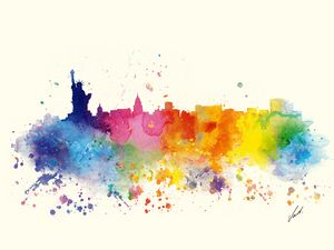 Watercolor New York City by Vart