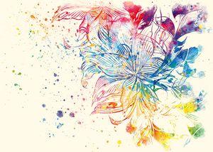 Watercolor Flawer by Vart