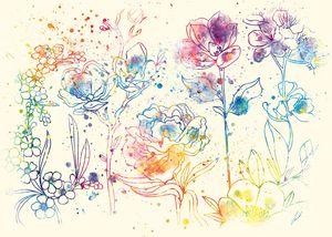 Watercolor Flawers by Vart