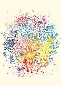 Watercolor Mandala by Vart