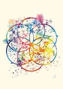 Watercolor Sacred Geometry by Vart