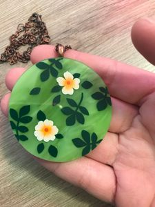 Painted Stained Glass Necklace