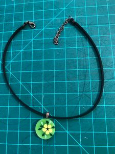 Painted Stained Glass Choker