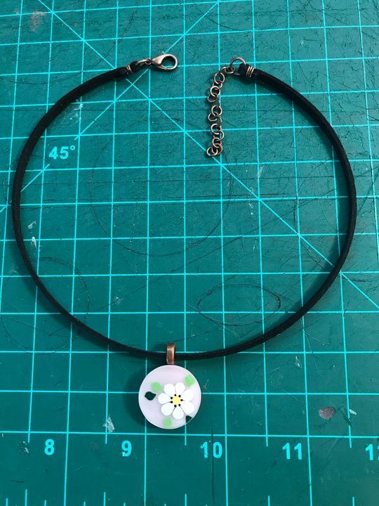 Painted Stained Glass Choker - Amaranthine Glass
