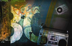 Grunge Boombox 1 Digital Art