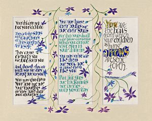 Kahlil Gibran - Dave Wood Calligraphy