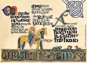 Irish Blessing Calligraphy Print