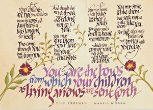 Kahlil Gibran Quote - Dave Wood Calligraphy