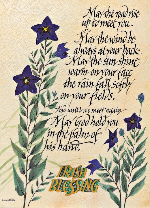 Irish Blessileng - Dave Wood Calligraphy