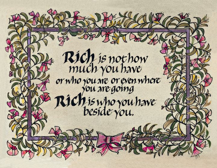 Rich Calligraphy Art Print - Dave Wood Calligraphy