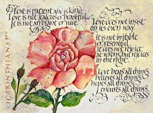 1 Corinthians Calligraphy Art print
