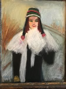 Winter Girl - Louise Gibler Art