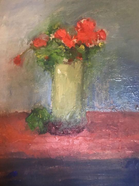 Geraniums - Louise Gibler Art