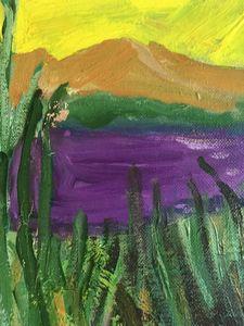 Purple Lake - Louise Gibler Art