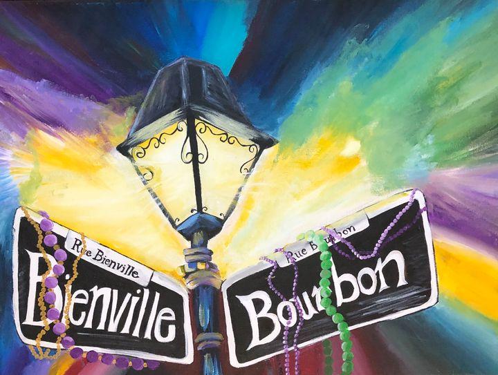 New Orleans Street Light on Bourbon - Alayna Wall