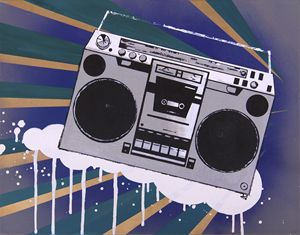 Original Boombox Pop Art Painting