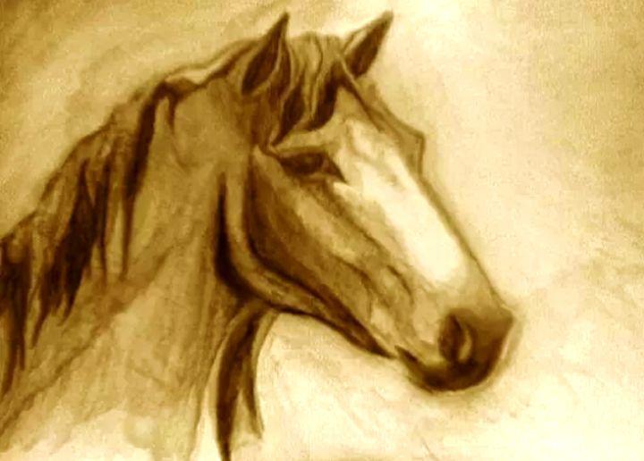 Water Color Horse - BlueAuburn