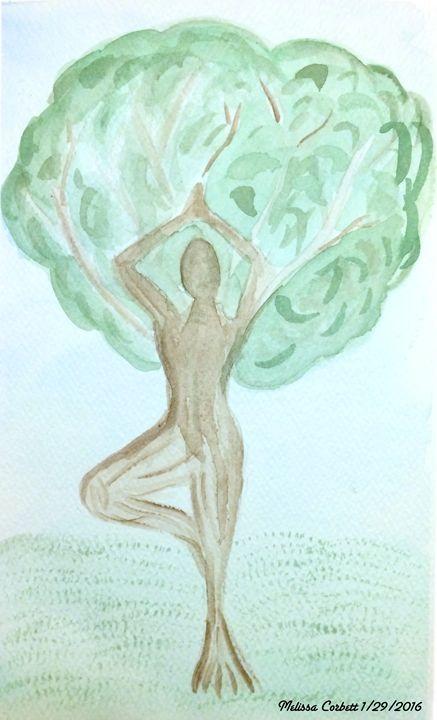 Dryad in Tree Pose - Mel Corbett