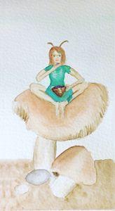 Fairy on a mushroom