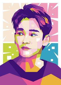 EXO CHEN POP ART ILLUSTRATION