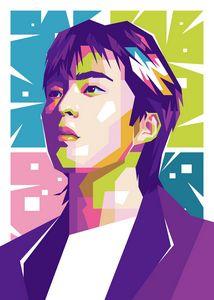 EXO XIUMIN POP ART ILLUSTRATION