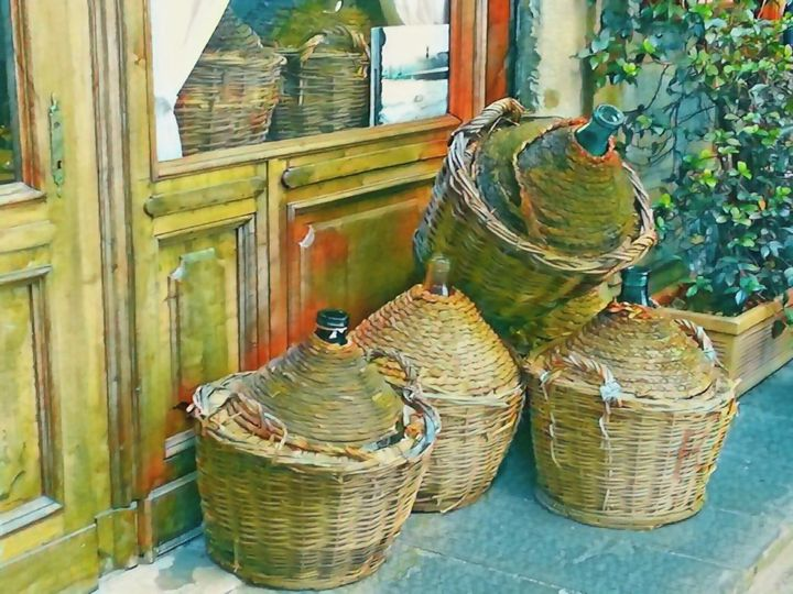 Tuscan Wine Jugs - Will Clark Art