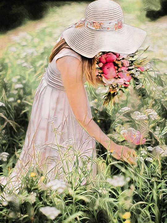 The flower girl - Will Clark Art