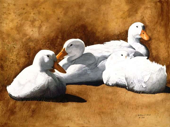 Huddle in a Cool Breeze - Will Clark Art