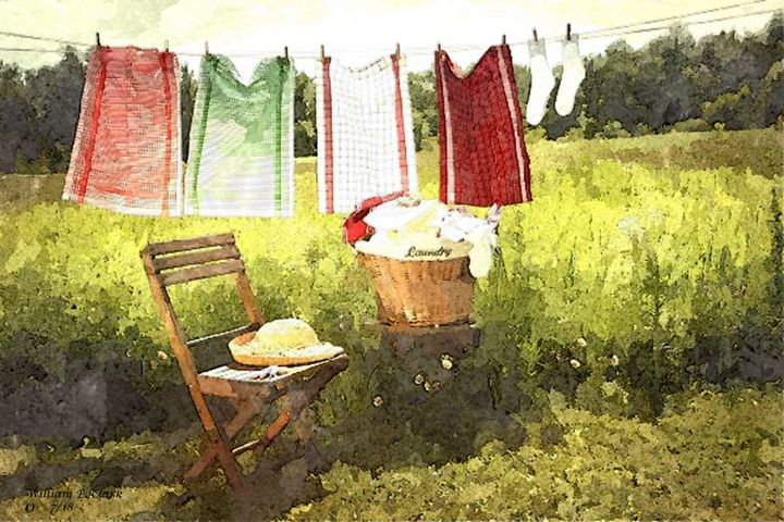 LAUNDRY DAY - Will Clark Art
