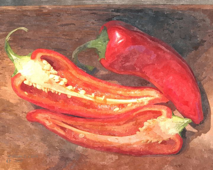RED PEPPERS - Will Clark Art