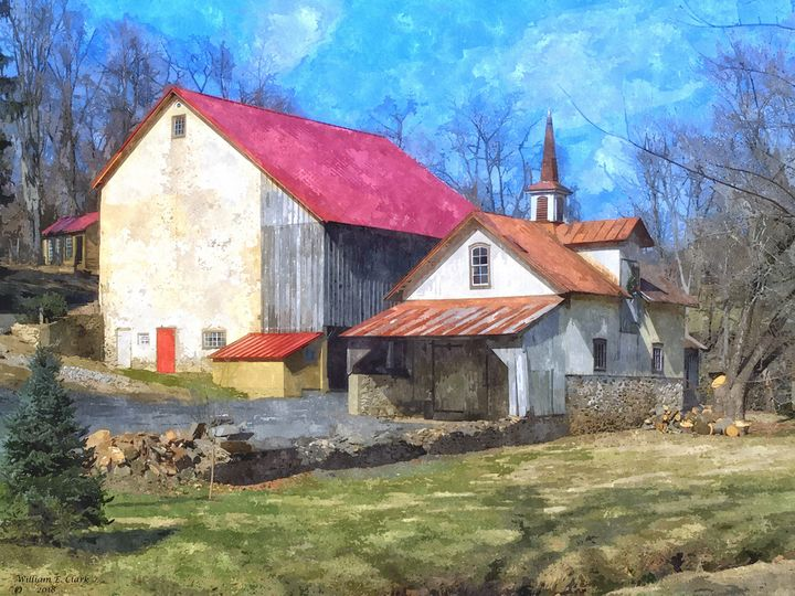 RED ROOFS - Will Clark Art