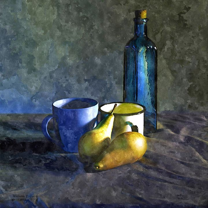 STUDY IN BLUE AND GOLD - Will Clark Art