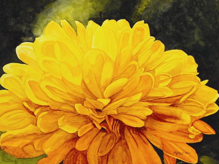 """Yellow Fireworks"" - Will Clark Art"