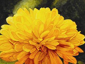 """Yellow Fireworks"" - Will Clark Art"