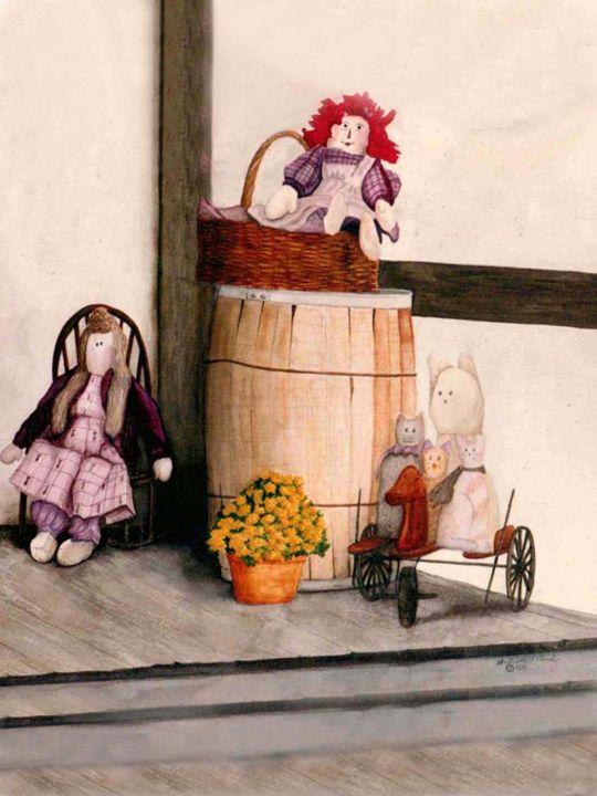 Cats and Dolls - Will Clark Art