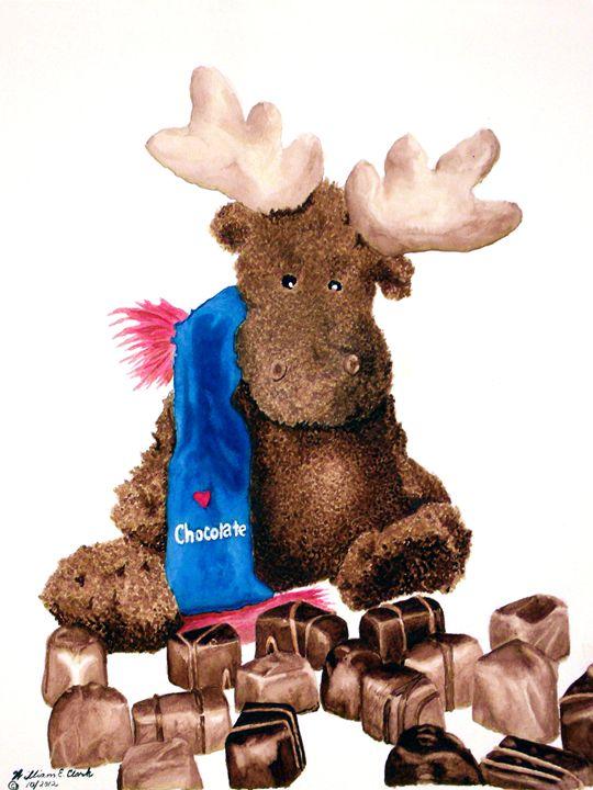 Chocolate Moose - Will Clark Art
