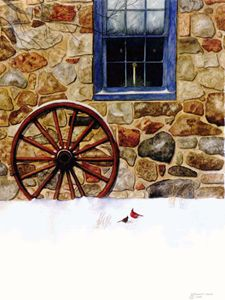 Christmas Visitor - Will Clark Art