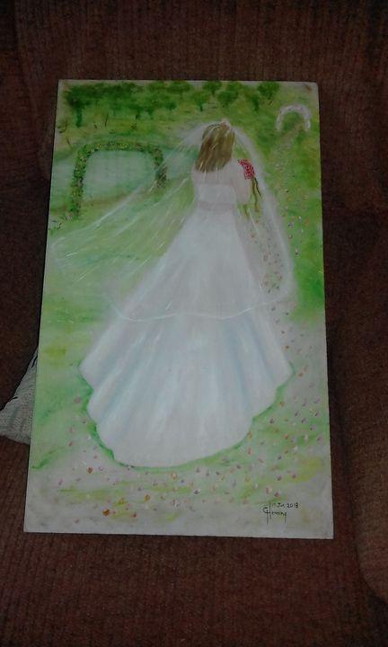 lady in wedding dress - GHenning