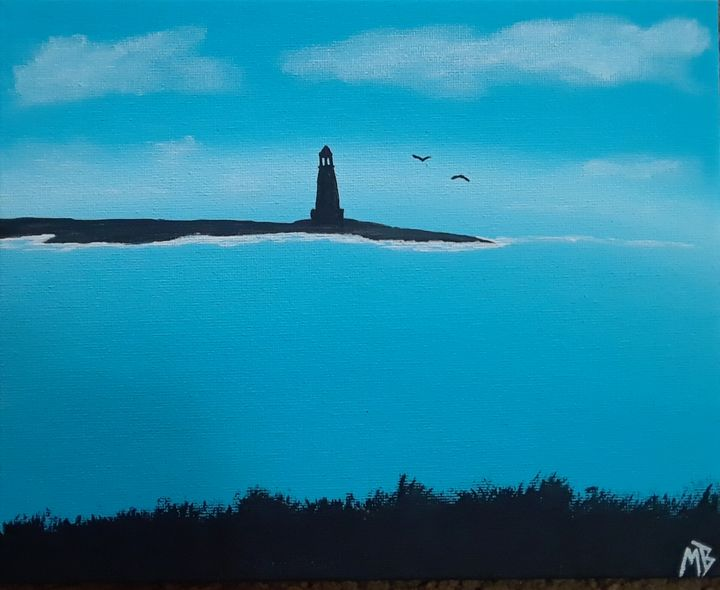 Sea side Lighthouse - Art by Mike
