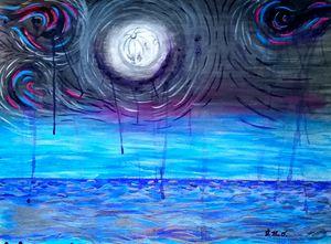 The Sea & Moon (tribute to Van Gogh)