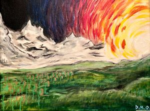 Sunset Mountains - Dak Art