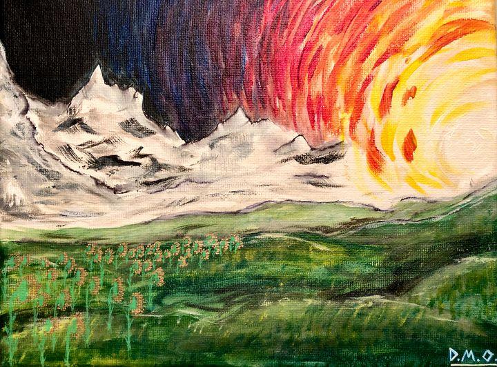 Sunset Mountains - Dak Art