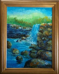 Palette Knife Waterfall