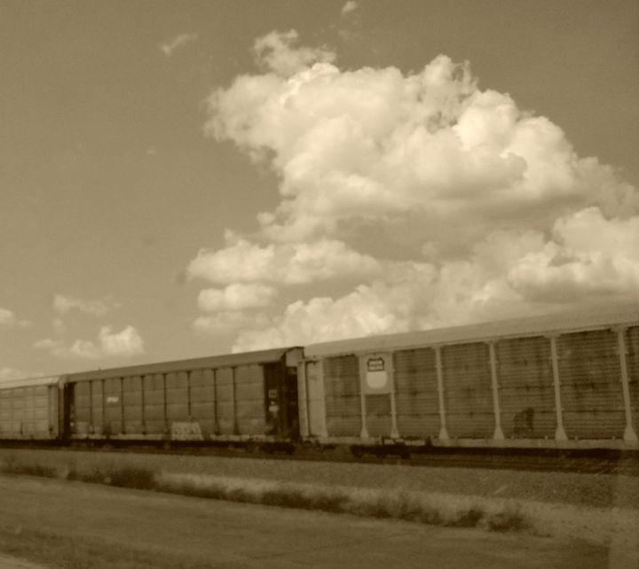 Vintage train - Crofford Art