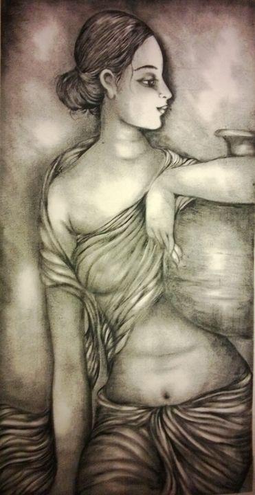 pot with girls - Vishaka art gallery
