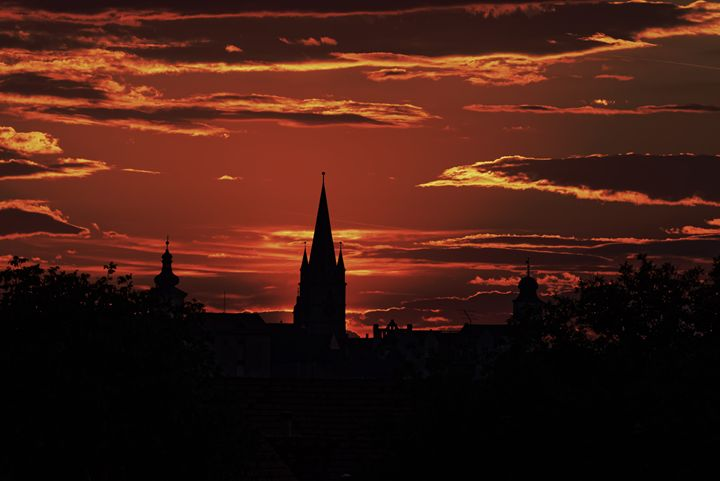 The Silhouette of the Old Town Sibiu - Adrian Bud
