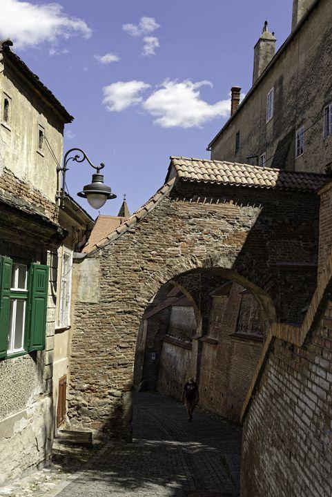 Old Town Sibiu Romania Stairs Passag - Adrian Bud