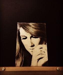 Celine Dion - Charcoal Print