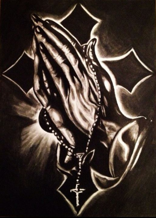 Praying Hands - print - JaclyneJaye