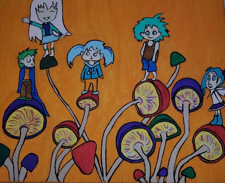 Children of the shrooms - Bonnie's art